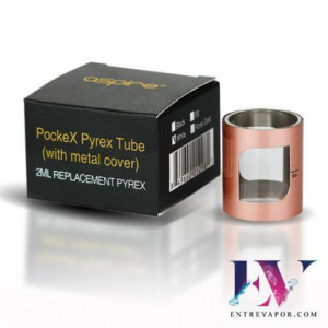 Aspire PockeX 2ml Pyrex Tube With Metal Cover en nuestra tienda de vapeo