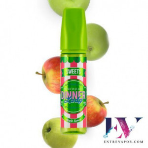 Dinner Lady Sweets Apple Sours 50ml (Shortfill) en nuestra tienda de vapeo