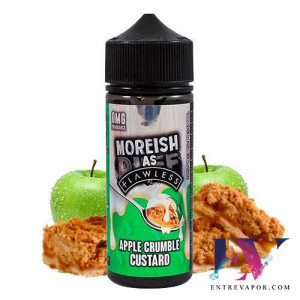 Moreish As Flawless Custards Apple Crumble 100ml (Shortfill) en nuestra tienda de vapeo