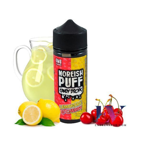 Compra el líquido para vapear Moreish Puff Candy Drops Lemonade Cherry 100ml (Shortfill)